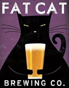 Fat Cat Brewing (Beer) by Ryan Fowler 14x11 Art Print Poster