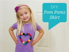 DIY Pom Poms Shirt
