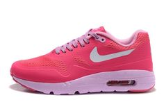new product 91a4a dec34 2016 New Arrival Nike Air Max 1 Ultra Essential Pink White Hot Selling  Models Women Size