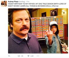 """solaleo: """" a prime example of the parks & rec cast being exactly the same as their characters """""""