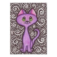 Purple Cat Poster #Cats #Purple # Posters