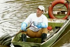 """Mike Rowe: """"I'm adrift on a sea of crap!"""" Dirty Jobs Episode: Poo Pot Maker"""