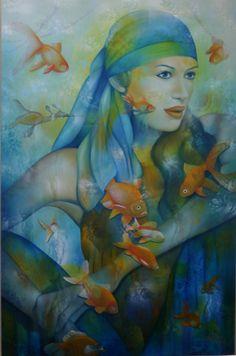 Art painting wonderful style by  jeannette guichard - bunel