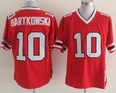mitchell and ness falcons 10 steve bartkowski red throwback stitched nfl jersey