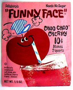 Funny Face Drink Mix - It was a knock off of Kool Aid Thanks For The Memories, Great Memories, Retro Recipes, Vintage Recipes, School Memories, Childhood Memories, Vintage Advertisements, Vintage Ads, Vintage Food