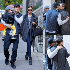 Miranda Kerr and Orlando Bloom Kiss in NYC After Split Miranda Kerr Orlando Bloom, Lee Pace, Middle Earth, Popsugar, Celebrity Style, Winter Fashion, Kiss, Cute Outfits, Romance
