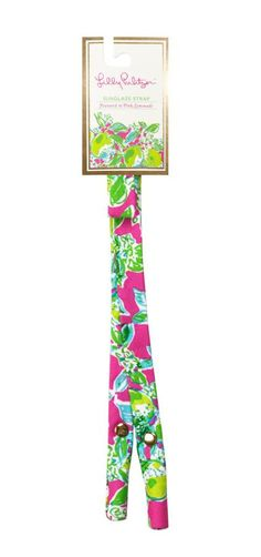 Lilly Pulitzer Sunglass Strap- Pink Lemonade from Shop Southern Roots TX