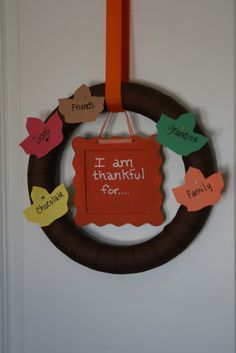 Gratitude Wreath-a great way to teach children about the spirit of the season!
