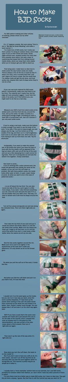 How to Make BJD Socks by RodianAngel.deviantart.com on @deviantART