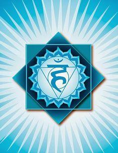 Exercises and meditations for the throat chakra or fifth chakra. How to balance the throat or fifth chakra. 3 Chakra, Blue Chakra, Throat Chakra Healing, Chakra Colors, Chakra Tattoo, Cores Do Chakra, Chakra Symbole, Vishuddha Chakra, Plexus Solaire