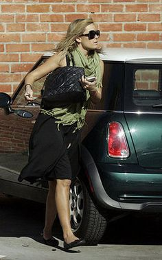 Lauren Conrad and her MINI Cooper