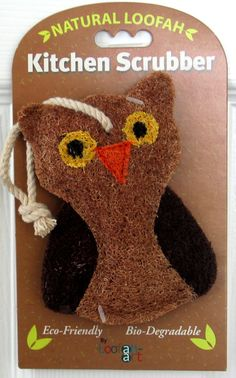 This is our new Owl scrubber...can be purchased at:  www.amazon.com/shops/LOOFAH-ART
