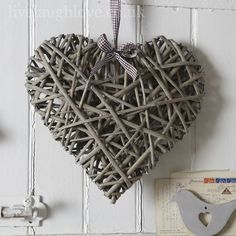 Willow Hanging Heart - Large | Live Laugh Love