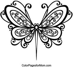 Instantly Printable Digi Stamp Coloring Page Dragonfly