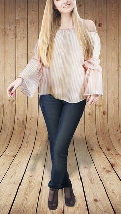 Combina una blusa de mangas bombachas con un jeans y tendrás un look casual súper atractivo #Graffiti #ahoramuchisimomejor #fashion #style #stylish #love #cute #beauty #beautiful #instagood #pretty #swag #girl #girls #design #model #dress #shoes #styles #outfit #shopping #glam #ropaparadamasencaracas