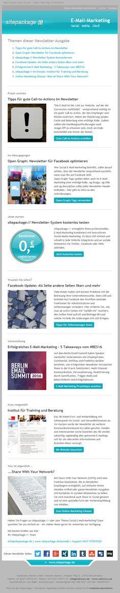 In der Juli-Ausgabe gibt es Tipps für gute Call-to-Actions und die Optimierung des Newsletters für Facebook. Außerdem stellen wir fünf Takeaways vom Berlin Email Summit für erfolgreiches E-Mail-Marketing vor.