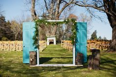 BLUE door at the ceremony