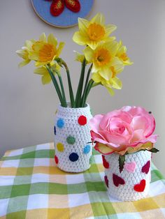 Crochet Jar Jackets by bunny mummy, via Flickr