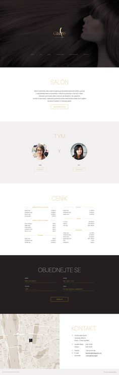 quick one page website for hair salon in prague by marian fusek ux