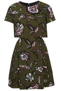 Floral Overlay Dress - Topshop