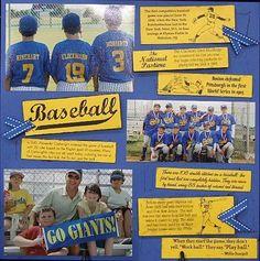 baseball scrapbook ideas - Google Search
