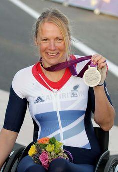 Silver: Cyclist Karen Darke -  H1-2 time trial - cycling
