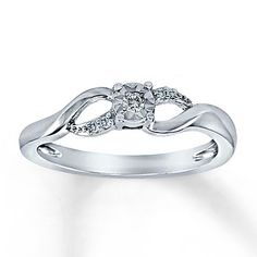 My promise ring my bf got me for valentines day, Diamond Promise Ring 1/20 ct tw Round-Cut Sterling Silver