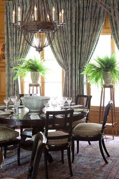 Round dining table, cane chairs - Mark J. Williams Design, L.A.:    Love the table!