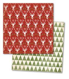 { my mind's eye } Sleigh Bells Ring Red Reindeers paper