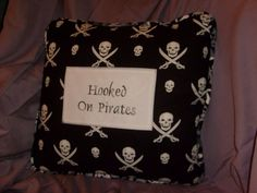 """""""Hooked On Pirates"""" pillow with a secret by idolhands on Etsy, $60.00"""