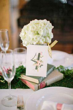Wedding centerpieces with books Wedding Centerpieces, Weddings, Table Decorations, Books, Home Decor, Libros, Decoration Home, Room Decor, Wedding