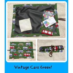 $18.00 Chalk Mat Vintage Cars Green by Beckys on Handmade Australia