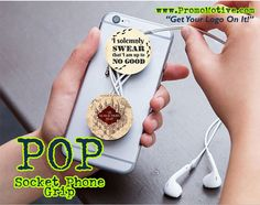 #tradeshow #logo #promotionalproducts #marketing #popsocket Everyone who has a Smartphone should have a POP phone holder. Marketers who are looking to promote their business brand or logo should get their logo on a POP collapsible phone accessory. The POP smartphone holder is a socket style collapsible cell phone stand that attaches to the back of most smartphones, I-Pad's or Tech Tablet.