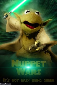 Muppet Wars with Kermit as Yoda