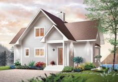 1480sf, $162,000 not including basement Lakefront House Plan chp-6807 at COOLhouseplans.com