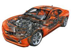 2010–2013 Chevrolet Camaro SS - Illustration unattributed