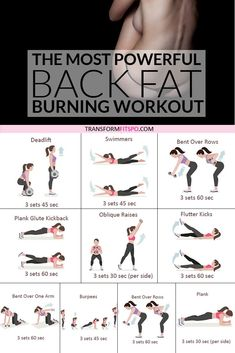 #backfat #getridof #workoutathome #womensworkouts #transformations Get rid of your lower back fat. 8 exercises to get rid of lower back fat for women. This exercise group helps to work out your back whilst giving your abs a tough time. This hits your who Glute Kickbacks, At Home Workout Plan, Fat To Fit, Transformation Body, Lose Belly Fat, Lose Fat, Lose Back Fat, Gym Workouts, Fitness Exercises