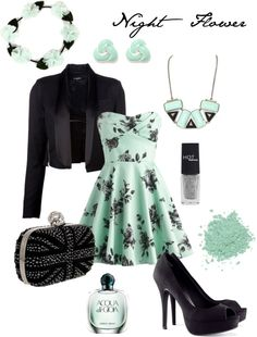 """Night Flower"" by laynelazor ❤ liked on Polyvore"