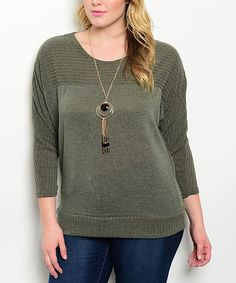 This Charcoal Ribbed Scoop Neck Sweater - Plus by Curvy Lily is perfect! #zulilyfinds