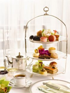 Afternoon tea at Peninsula Hotel in Shanghai