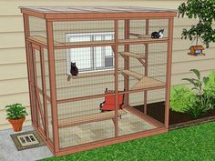 """A catio, an outdoor cat enclosure or """"cat patio,"""" is the purrfect solution to solve the indoor/outdoor dilemma and keep your cat safe, healthy and happy."""