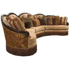 rachlin sofas | Rachlin Classics Grace Traditional 3pc Conversational Sectional Sofa ...