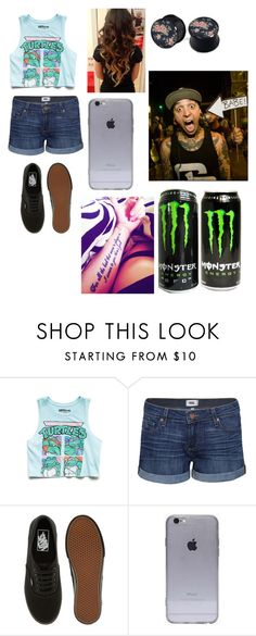 """""""Hanging out w/ tony perry!"""" by imaray98 ❤ liked on Polyvore featuring Forever 21, Paige Denim, Vans and GURU"""