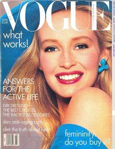 Vogue US, March 1987. Estelle Lefebure.