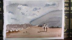 Beach watercolor (Christmas 2014)