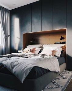 The Stylish Modern Bedroom Furniture (Vintage, Rustic, and Mid Century Bedroom F. The Stylish Modern Bedroom Furniture (Vintage, Rustic, and Mid Century Bedroom Furniture Sets) Small Master Bedroom, Cozy Bedroom, Bedroom Sets, Bedroom Decor, Master Suite, Stylish Bedroom, Bedroom Lighting, Blue Bedroom, Bedroom Simple