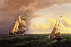 Whaler hors du Vignoble - Outward Bound, peinture de William Bradford (1590-1657, United Kingdom)