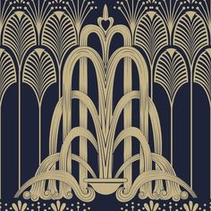 Images of art deco patterns - Estilo Art Deco, Arte Art Deco, Motif Art Deco, Art Deco Pattern, Art Deco Design, 1920s Art Deco, Interiores Art Deco, Art Nouveau, Pinturas Art Deco