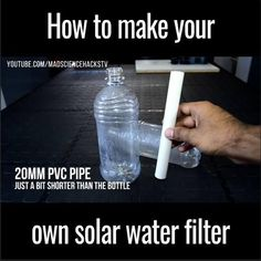 This solar water filter is an awesome survival hack to purify water for drinking!