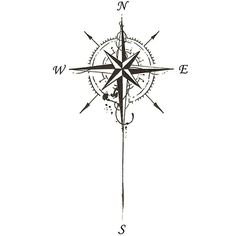 Compass tattoo ❤ liked on Polyvore featuring accessories and body art